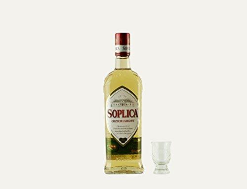 Soplica Haselnuss + Free Shot Glas | Polnischer Haselnusswodka/-likör | 28%, 0,5 Liter