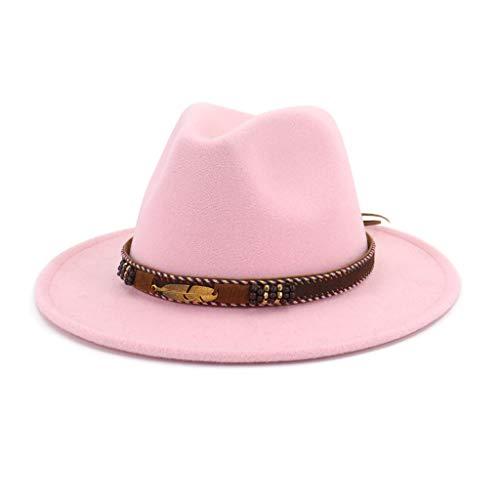 CADANIA Hombres Mujeres Vintage Fieltro étnico Sombrero