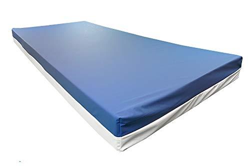 Premium Pflegematratze 90x200cm - Standard für die Heimpflege - 14cm Höhe - Dekubitus Prophylaxe - Made in Germany - 90 x 200cm