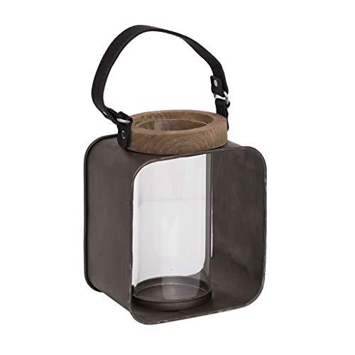 Afairy Decorativo de la Vendimia Linterna de la Vela del Metal del sostenedor de la Linterna for la Mesa Manto Colgar de la Pared Interior/Exterior de Las linternas (tamaño : Small)