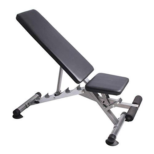 CHUTD Hantelbank,Heavy Duty Utility Weight Bench Einstellbar für Unisex Adult, Sit Up AB Flat/Incline/Decline Bench, Heim-Fitnessgeräte