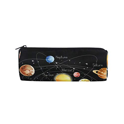 Lawenp Estuche para lápices Urano de planetas del espacio exterior, estuche para bolígrafos para estudiantes, estuche para maquillaje redondo escolar para chico, niño y niña
