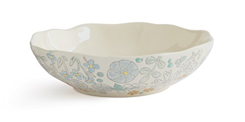 Dorotea Hand Painted Vegetable Serving Bowl, 10.5-Inch