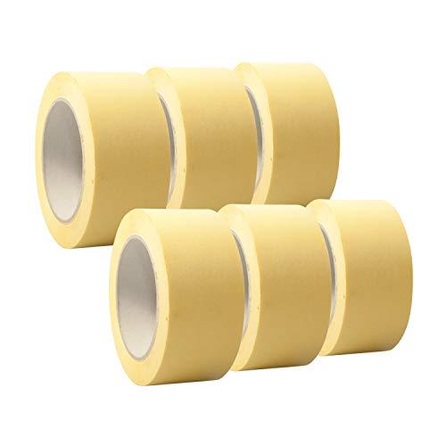 6 Rollen \'Premium\' Malerkrepp/Abklebeband/Kreppband,19-75mm, Abmessungen:50mm x 50m