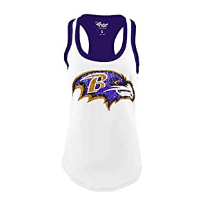 G-III Sports Baltimore Ravens Womens Power Alley Tank Top T-Shirt X-Large Purple