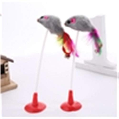 WEIJUAN Kat Interactief Speelgoed Stick Veer Wand Met Kleine Bell Muis Kooi Speelgoed Kunstmatige Kleurrijke Kat Teaser Speelgoed Huisdier benodigdheden