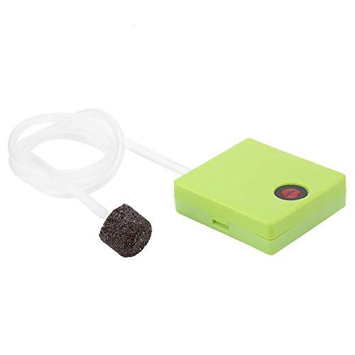 HechoVinen Bomba de oxígeno, Portable Fish Ta nk Bomba de aire Aireador de Oxígeno Portátil Acuario Seco Operado a Batería Pescado Ta Nk...