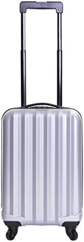 Karabar Hard Cabin Hand Luggage Bag 54 cm 2.2 kg 31 litres 4 wheels, Monaco Red