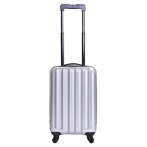 Karabar Hard Cabin Hand Luggage Bag 54 cm 2.5 kg 31 litres 4 wheels, Monaco Silver