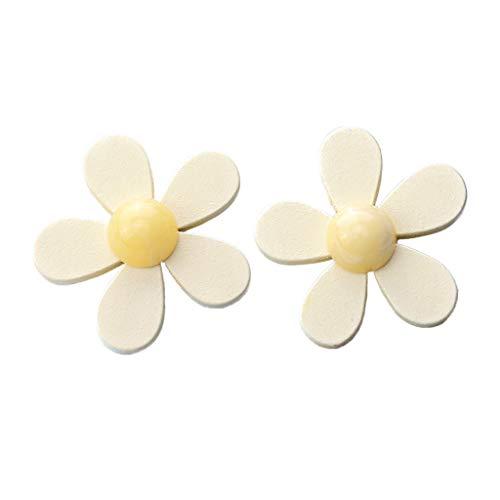 Pendientes YiPong de madera con diseño de pétalos de chispa, para mujer, estilo retro, con forma de flor, para regalo de mujer