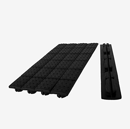 Stellis Inc Protective Rubber Covers Fits Both Keymod & M-LOK Rails - Pack of 5 (Black)