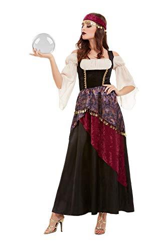 Smiffys 50953S Deluxe Fortune Teller Kostüm, Damen, Schwarz, S, Größe 08-10