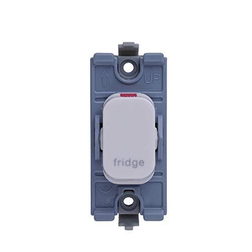 Schneider Electric GGBL20DPFRW Lisse módulo de interruptor de 2 polos para nevera, 20AX, color blanco