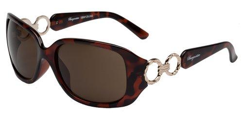 Schöne Marken Sonnenbrille für Damen von Burgmeister mit 100% UV Schutz   Sonnenbrille mit stabiler Polycarbonatfassung, hochwertigem Brillenetui, Brillenbeutel und 2 Jahren Garantie   SBM125-242