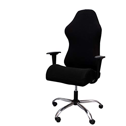 ZffXH Stretch Office Computer Gaming Chair Cover Universal Rotating Chair Covers (Without Chair) -Black