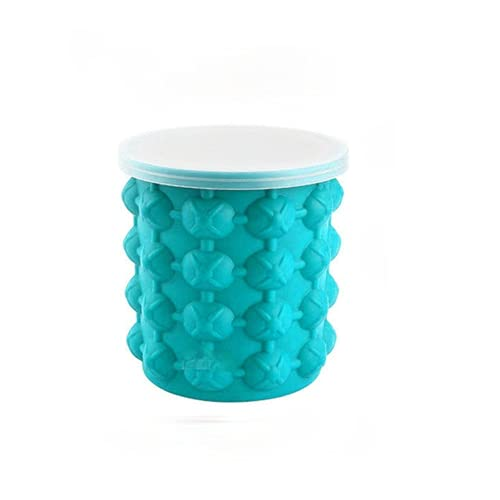 Cubo de hielo redondo molde de hielo de silicona con tapa cubo de hielo cubo de hielo cerveza barril de vino cubo de cóctel cubo de bebida fría de verano (600ml)