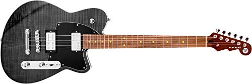 Reverend Charger RA Transparent Black Flame Maple, Dark Roasted Maple