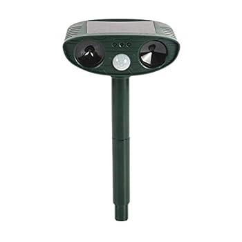 DRL Chat ultrasonique de scarificateur Animal répulsif Solaire de Chat avec imperméable, 2 PCs, fréquence de HyperResonance, enjeu au Sol for la Cour/pelouse/Jardin/Ferme