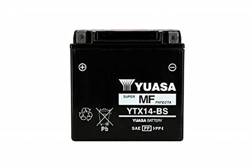 Yuasa YTX14-BS Esente da Manutenzione Batteria, 12V, 150mm x 87mm x 145mm