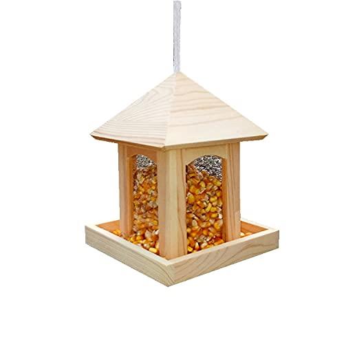 Frofine Vogelhaus Futterstationen für Wildvögel Bird Feeder Vogelhaus Balkon Futterstation Vögel Vogelfutterhaus Vogelhäuschen Futterhaus Vögel Vogelfutterspender Vogelhaus zum Aufhängen im Garten