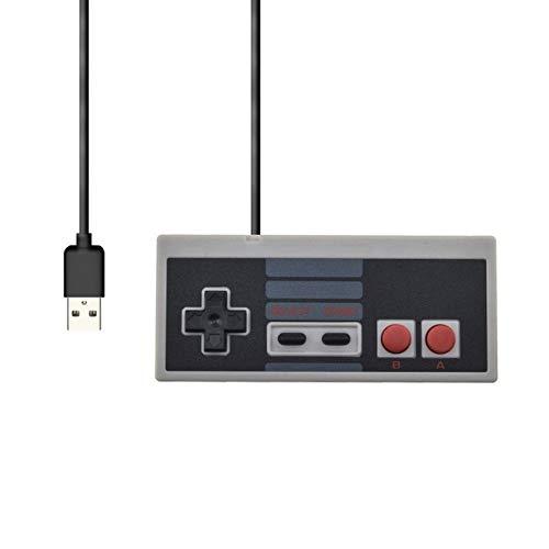 Preisvergleich Produktbild NHSCDZ Gamepad, Für NES Wired USB-Controller Gamepad PC / USB / NES Computer-Videospiele Mando Griff Retro USB Für NES Joystick Control Manette,  USB-Schnittstelle