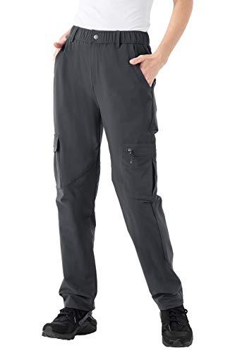 donhobo Pantalones de senderismo para mujer, resistentes al viento, impermeables, funcionales, para...