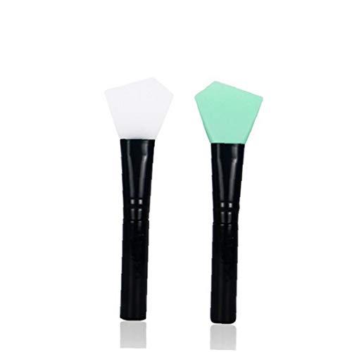 1 Paquet silicone masque facial Brosses Oblique tête Masque Pinceau pour appliquer Masque Masque pour les yeux Peel couleur aléatoire