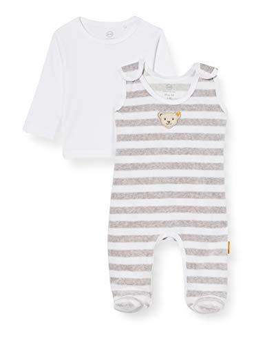 Steiff Unisex Baby Soft Grey Melange Kleinkind-Schlafanzüge, Grau, 50