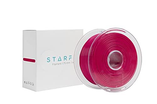 Starfil - PLA 1.75 mm, Tamaño 1 Kg, Impresión 3D, Sistema Bobinado Easy Go,100% Biodegradable, Compatible con Todas las Impresoras. (Magenta)