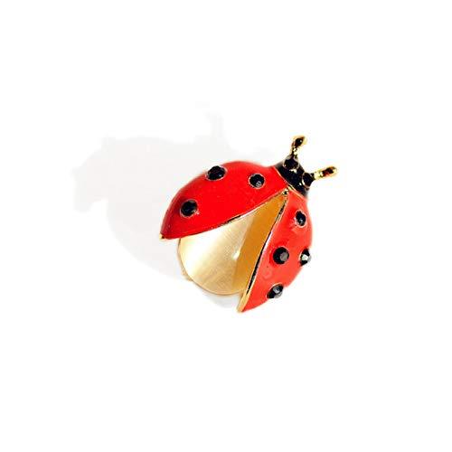 CYPZ 2 Piezas Mini Broche de Insectos Siete Estrellas Mariquita Accesorios antideslumbrantes Ramillete Lindo Pin de Ropa de Todo fósforo