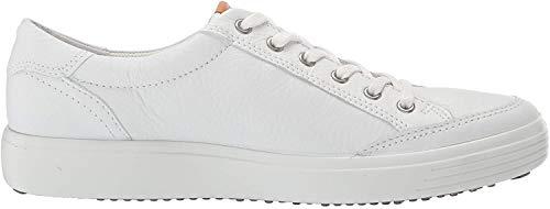 ECCO Men's Soft 7 Long Lace Sneaker, White, 44 M EU (10-10.5 US)