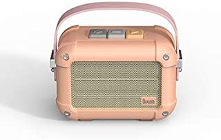 Divoom Macchiato Stylish Portable Bluetooth Speaker With Fm Radio, 6W Output With Tws Function - Pink (Pack Of1)