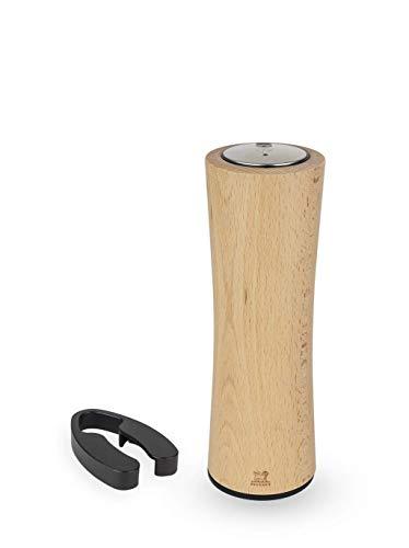 Peugeot Elis Reverse Elektrischer Korkenzieher, wiederaufladbar, 100 % automatisch, inkl. Folienschneider und Ladekabel, Farbe: Naturholz, Material: Edelstahl/Holz, Größe: 21 cm