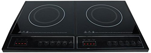 Plaque de cuisson électrique HA-INDUC-21N - 10 cm - Avec contact de protection - Noir