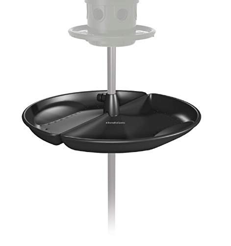 Brome Buster Tray Feeder and Seed Catcher, black