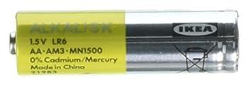 IKEA ALKALISK Alkaline AA Battery 10 Pieces Pack