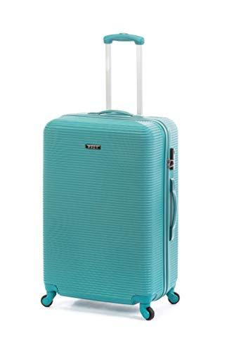 Ertha Travel Suitcase Cabin Trolley Cabin Hand Baggage, Ultra Light 4 Swivel Wheels 360 Cabin Suitcase Blue Green Blue/Green Blue L