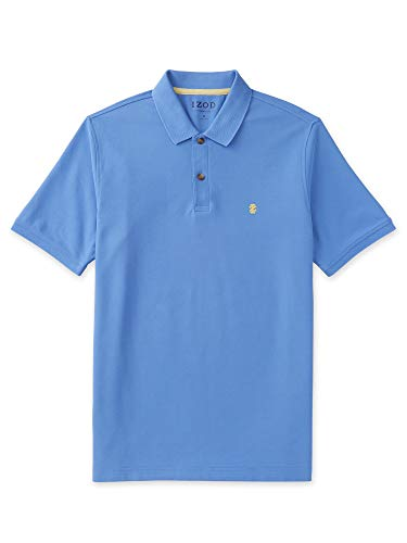 IZOD Men's Big and Tall Advantage Performance Solid Polo, Blue Revival, X-Large Tall
