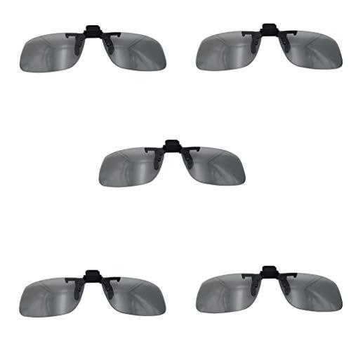 3Dメガネ5パック、3Dアイウェアクリップ、パッシブ円形偏光、キッズ&アダルト用、リアル3Dモードムービー用、シネマ使用可能(IMAXで利用可能)0.72mm