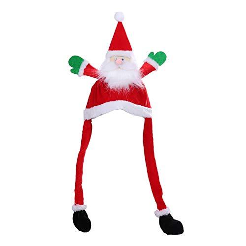shadiao Gorro de Papá Noel con gorro de Papá Noel, con oreja, para niños y adultos