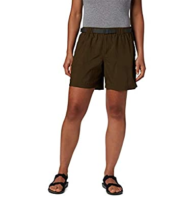 Columbia Women's Plus Size Sandy River Cargo Short, Breathable, UPF 30 Sun Protection, Olive Green, 2X x 6