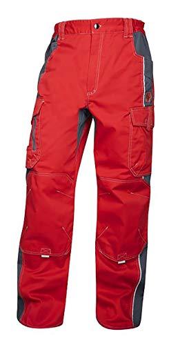 ARDON Vision Arbeitshose Professionelle Hose für Männer, Schutz für Monteure, Gärtner, Mechaniker, mit Reißverschlusstaschen, leichte Herren Schutzkleidung; Rot (58)