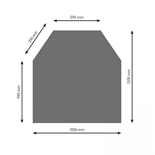 Schindler + Hofmann PU052-0B2-gg Bodenplatte B2 6-Eck gussgrau pulverbeschichtet 1200 x 1000 mm