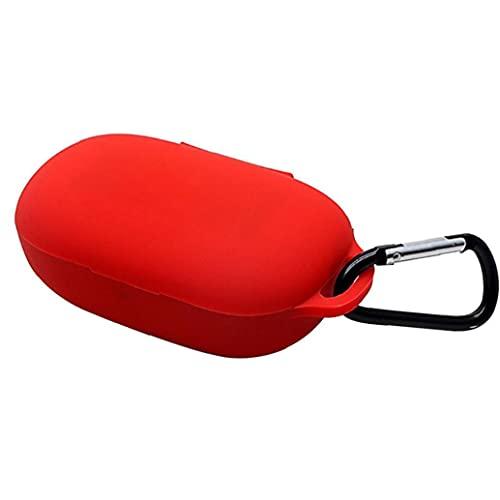 Sanfiyya Cubierta Protectora del Caso Auriculares de Silicona Auriculares Clamshell Apertura antichoque Flexible Shell Completo de Anker soundcore Vida P2 Protección de Auriculares Rojo