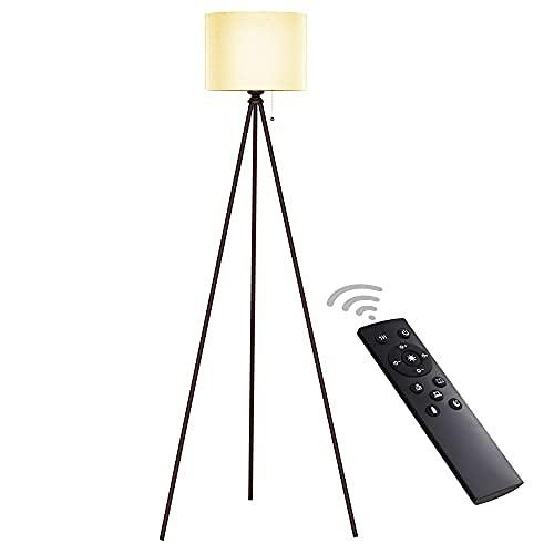 Lámpara de pie trípode, lámpara alta moderna, lámpara de mediados del siglo, lámpara de pie para sala de estar y dormitorios, luz de estar ...