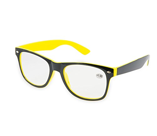 Gafas de Lectura + 1.00 + 1,5 + 2.00 + 2,5 + 3.5 + 4.00 marca 4sold, +1.5 yellow black,