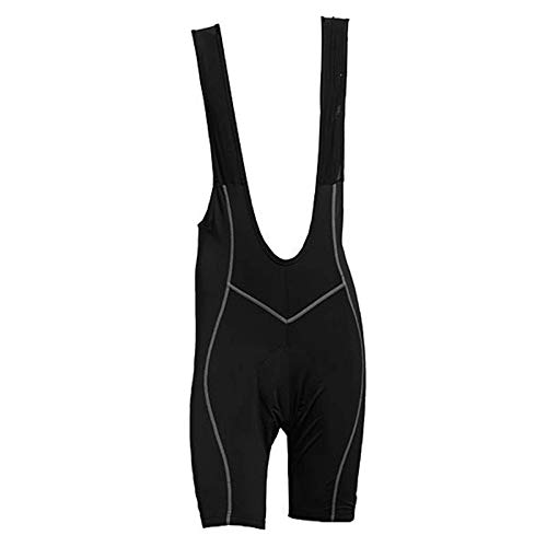 Pantalones de ciclismo para hombre, pantalones cortos de ciclismo para bicicleta, 3D, transpirables, de secado rápido, talla XL, color: negro