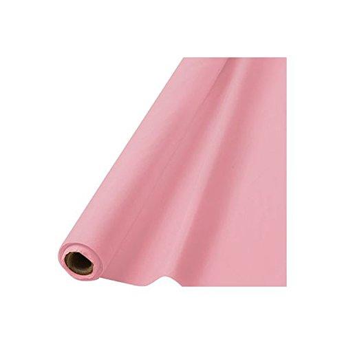 amscan 30 x 1 m Mantel de plástico, Rosa