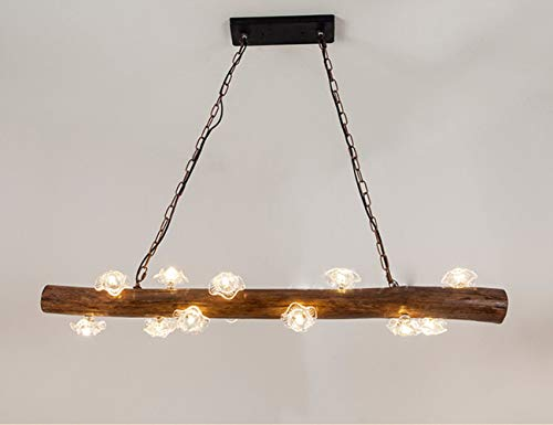 LED American Retro Holz Kronleuchter Blütenblatt Holz Kronleuchter Minimalist Abgehängte Deckenleuchte Personalisierte Kreative Holzleuchter Cafe Hotel