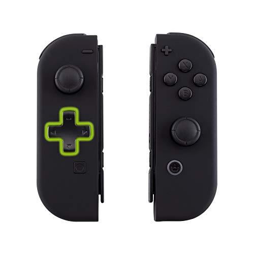 eXtremeRate Hülle für Nintendo Switch Joycon,Case Gehäuse Hülle Schale Soft-Touch Ersatzteile für Nintendo Switch Joycon Controller&kompletter Satz Taste(D-Pad-Version)-Schwarz-Keine Console Hülle